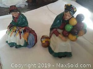 Two Royal Doulton character figures.