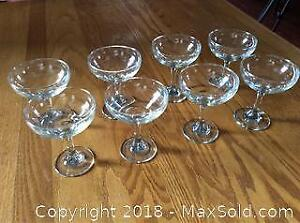 Set of Eight Vintage Drinking Glasses