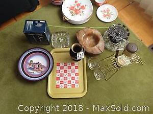 Olympic Tray And Vintage Coffee Set A