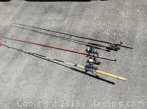 4 Fishing Rods And Reels C