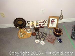Crown Derby, Cheese Tray, Lidded Box And More A