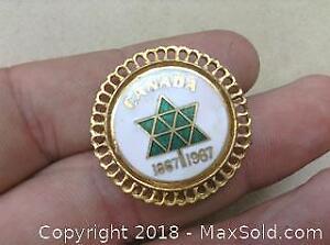 Centennial Enamel Button Pin Broach Centennial