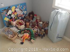 Dolls and Teddy Bears With Travel Bed