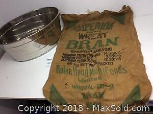 Robin Hood Burlap Bag, Metal Basin