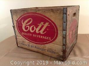 Old Cott Beverages Wood Advertising Crate B