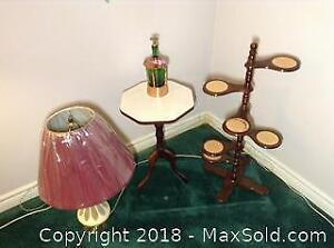 Lamp, Musical Decanter and More B