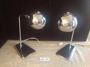 Mid Century Chrome Lamps