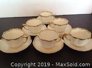 6 Sets Antique Cups Saucers Matches Lot 120