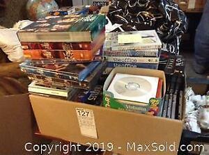 DVDs, CDs, VHS A