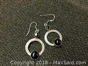 Sterling Silver Black Onyx .925 Earrings
