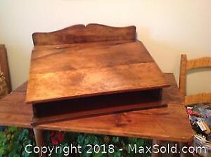 Antique Lift Top Table Desk