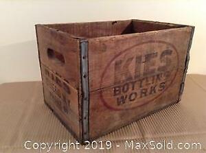 Kies Bottling Works Wood Advertising Crate B