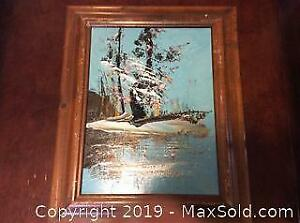 Oil Painting By Morris Katz 1981 Signed