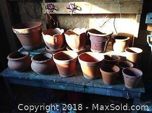 14 Clay Flower Planter Pot Collection C