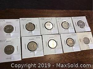 1950s Canada Nickle Complete Coin Set