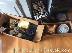 Vintage Cookie Jars and Assorted Kitchenware A