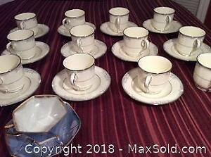 Noritake Tea Cups and Saucers Plus A