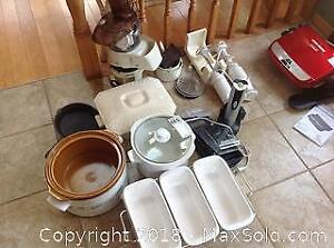 Crock Pots, Electric Corkscrew, Emersion Blenders, Food Processor, Schaffing Dish and More A