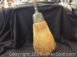 Antique Art Nouveau Pewter Whisk Brush 13.5 Inch