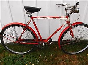 Rare  1962 Red Raleigh Superbe 3spd (With Fork Key)