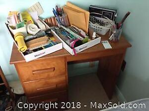 Desk And Contents C