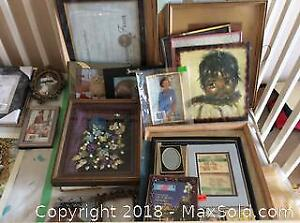Assortment Of Picture Frames And Art A