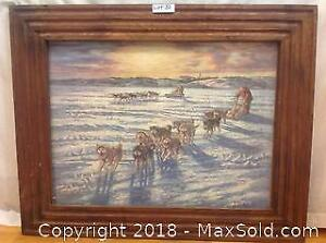 Dogsled Race Print By Nori Peter