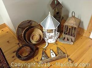 Bird Houses and Baskets A