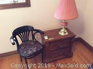 Night Table Lamp and Chair B