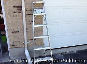 6 Foot Aluminum Step Ladder C