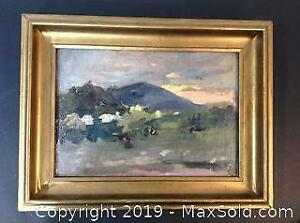 ORIGINAL oil on canvas painting Attributed to Canadian artist, Edmund Morris, A.R.C.A.