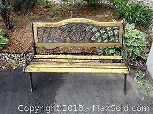 Cast Iron Garden Park Bench C