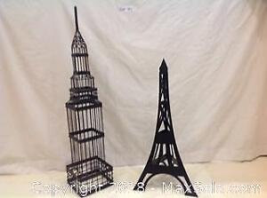 Eiffel Tower and Empire State Building