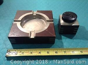 Selangor Pewter Lighter And Ashtray Set A