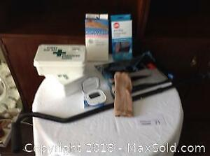 FIRST AID KITS, CANE, COMPRESSION STOCKINGS