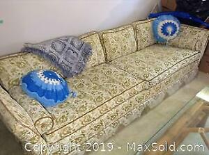 Vintage Sofa and Pillows C