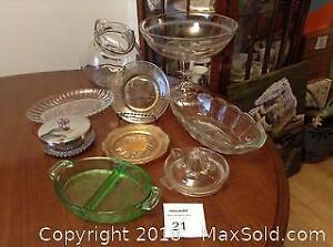 Antique Glass Lot