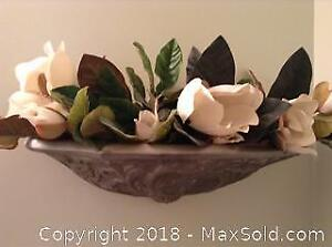 Wall Sconce With Faux Flowers - A