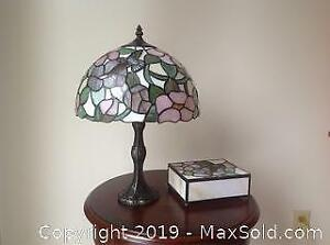 Stained Glass Lamp And Trinket Box