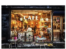 Small city centre cafe business for sale.
