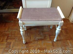 Vintage White Wooden Bench