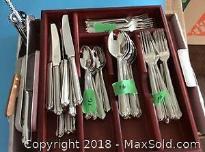 Mikasa Flatware And Wood Divider Cases- A