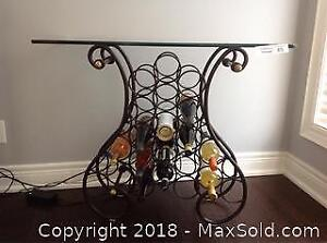 WINE RACK WITH GLASS TOP