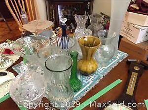 Glass And Crystal Vases - A