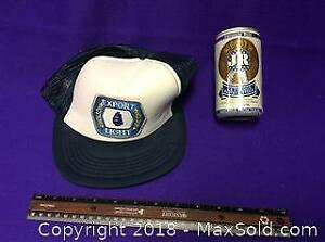Vintage Molson Hat, JR Ewing Beer Can