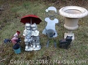 Garden Lawn Ornaments Lot B