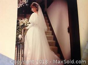 80s Vintage Custom Made Bridal Gown