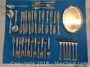 Danish modernist design plated silver. Thirty-seven pieces. Hallmarked Victoria 30. Beautifully crafted.