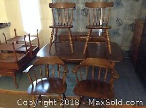 Maple Dining Room Set Table 4 Chairs Buffet C