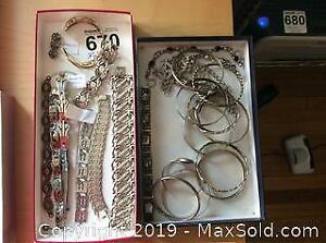 Sterling And Mexican Silver Bracelets A